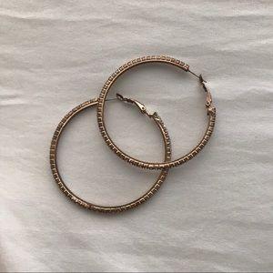 Bronze jeweled hoops!